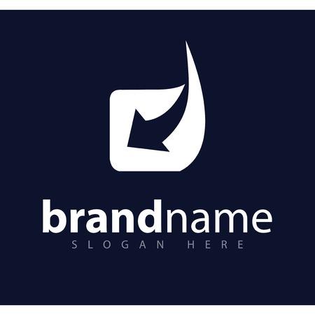 d letra inicial con plantilla de vector de logotipo de flecha Logos