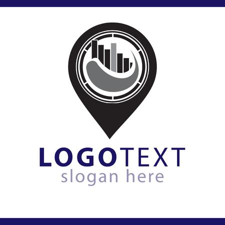 pin location logo vector template