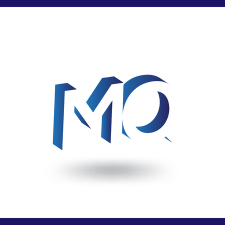 M Q initial letter with negative space logo icon vector template