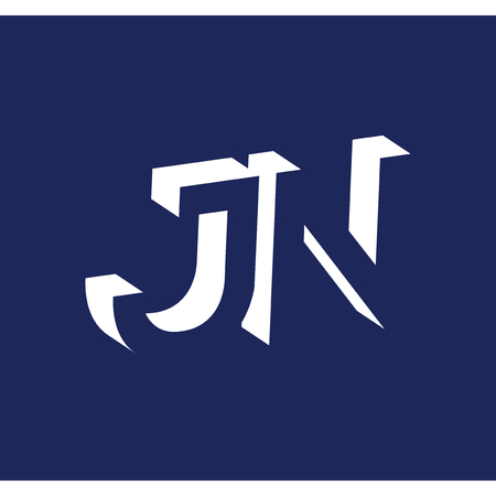 J M initial letter with negative space logo icon vector template 일러스트