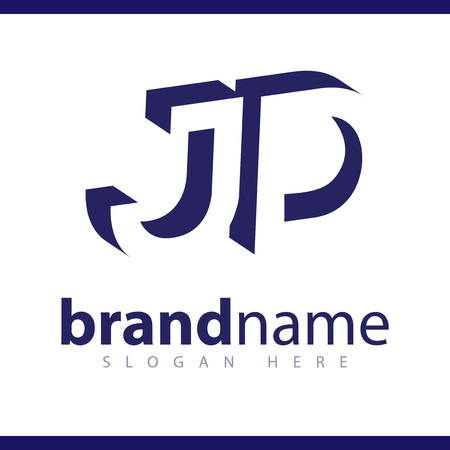JD initial letter with negative space logo icon vector template 일러스트