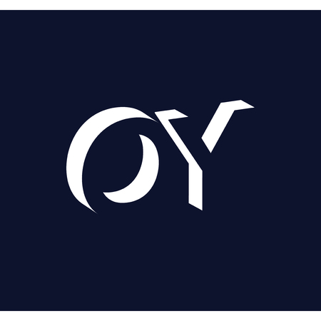 O Y initial letter with negative space logo icon vector template