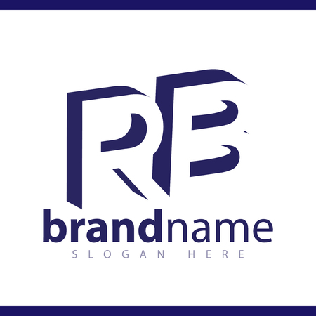 RB initial letter with negative space logo icon vector template 일러스트