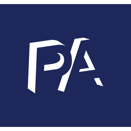 PA initial letter with negative space logo icon vector template