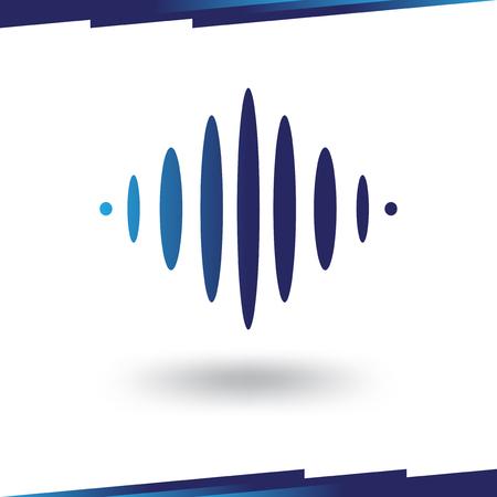 sound wave music logo template Banque d'images - 119586283