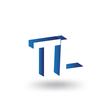 TL Initial Letter logo in negative space vector template Logó