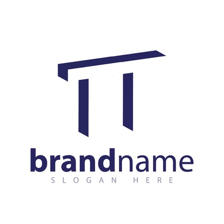 TT Initial Letter logo in negative space vector template Logo