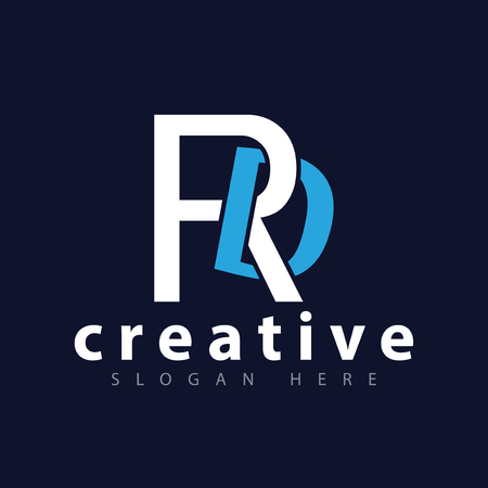 rd Initial Letter Logo Vector Template