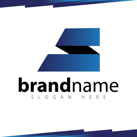 S Letter Rounded Logo template