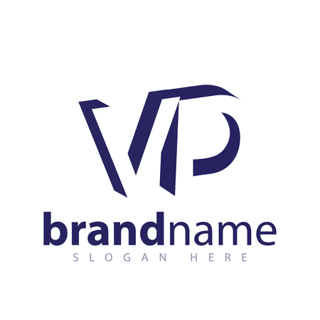 VD Initial Letter logo in negative space vector template