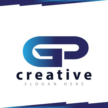 GP Initial Letter Logo Vector Template Logó