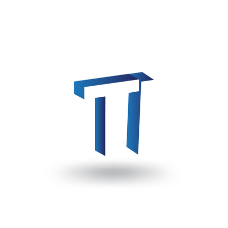 TI Initial Letter logo in negative space vector template