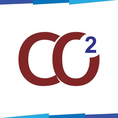 carbon dioxide symbol Logo Icon Vector template