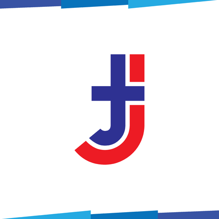 TJ Initial Letter Logo Icon Vector template