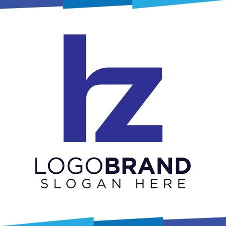 hz Initial Letter logo vector template