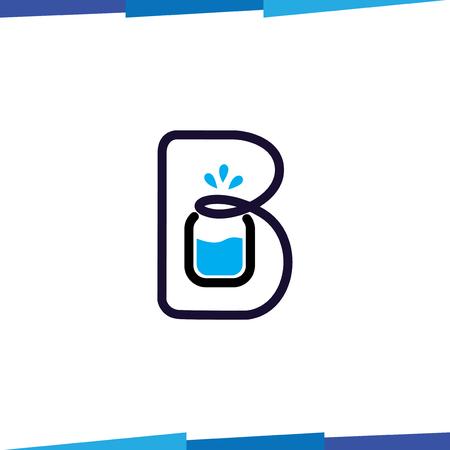 B Letter Drink logo vector template Illustration