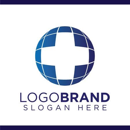 Medical Globe Logo Vector template