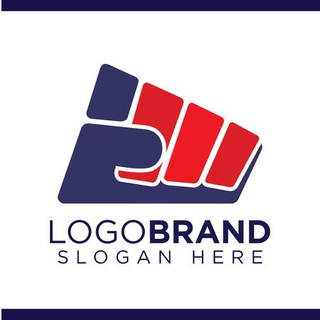 Fist of struggle Balanced Vector Logo Ilustração
