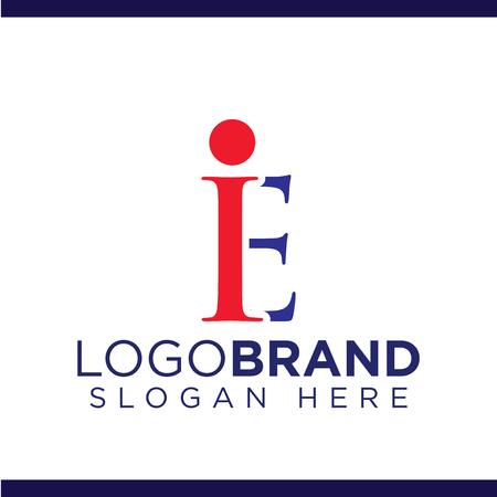 i e initial letter logo vector template Çizim