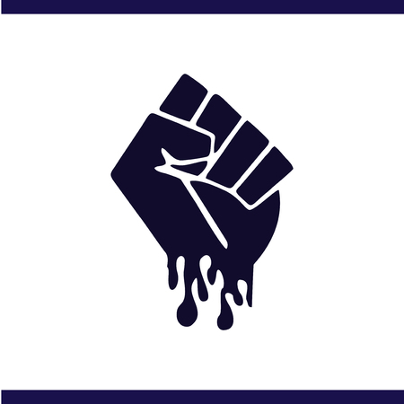 Fist of struggle from freedom logo vector template