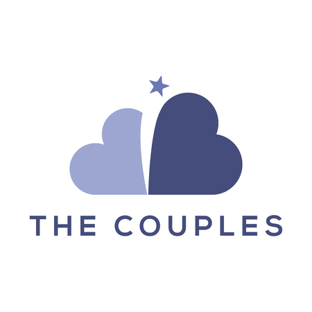 Love Couple with star logo vector