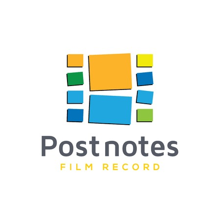 Post Note Film Production Logo Vector