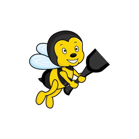 Bee Animal Logo Vector Template Ilustração