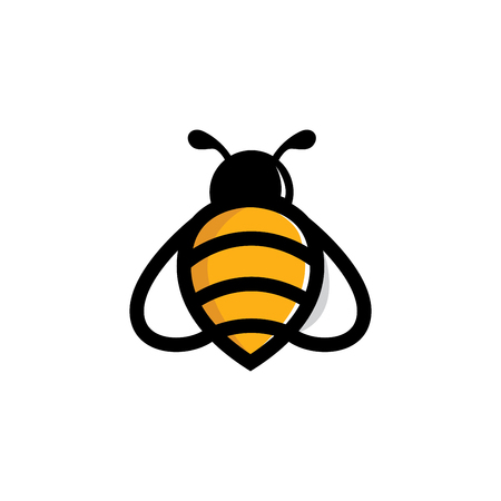 Bee Animal Logo Vector Template Illustration