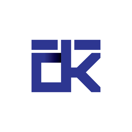 dk Initial Letter lowercase Linked logo icon vector