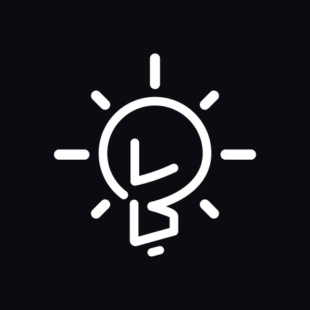 LB Initial Letter with creative bulb Logo vector Illusztráció