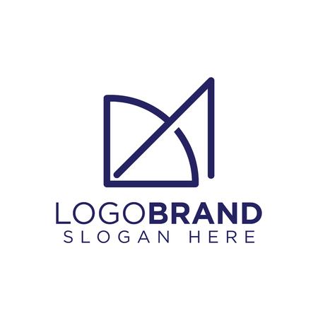 DA Initial Letter Archery Logo Vector Illustration