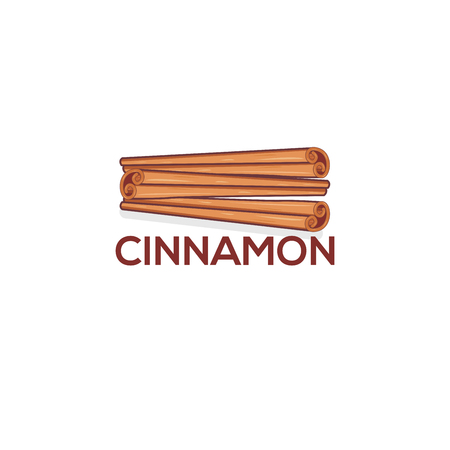 Cinnamon Spice Logo Vector Template Ilustração