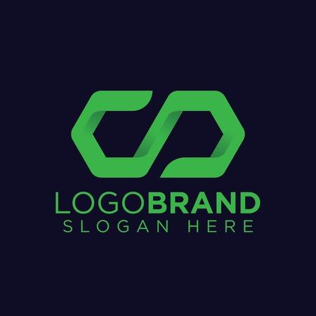AD Letter Sync Logo Vector