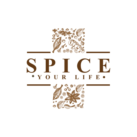Spice for medical cross logo vector Ilustração