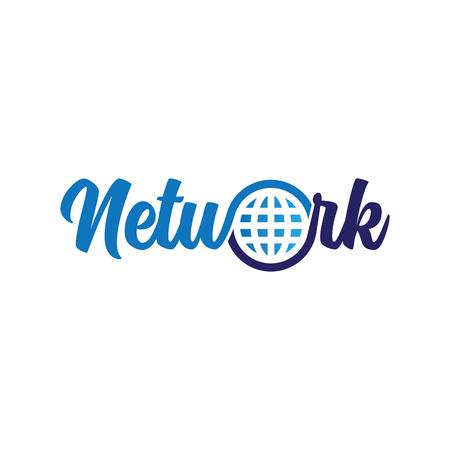 Network Internet Logotype Vector Ilustração