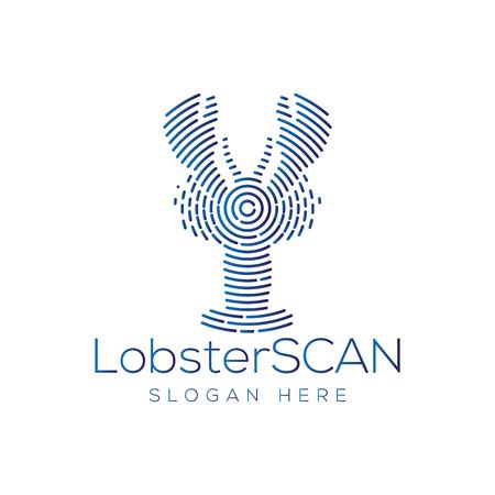 Lobster Scan Technology Logo vector Ilustração