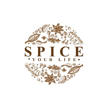 Spice Logo Type vector sjabloon Logo