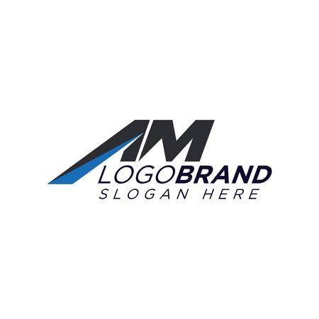 AM Letter Logo Vector template