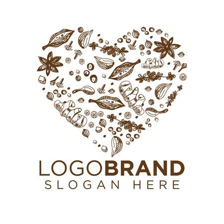 Love Spice Logo vector template