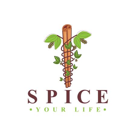 Spice medical cross logo vector Ilustração