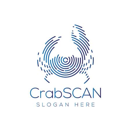 Crab Scan Technology Logo vector