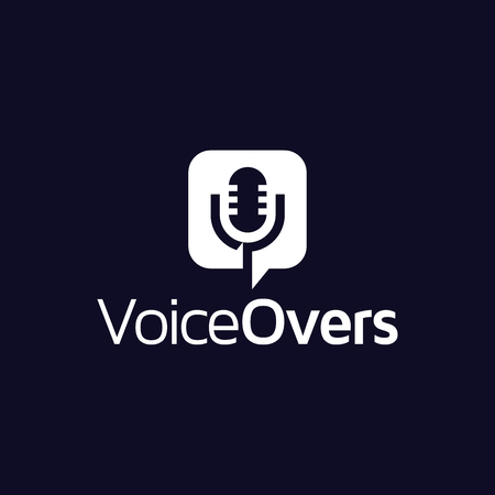 Voice in square Logo vector
