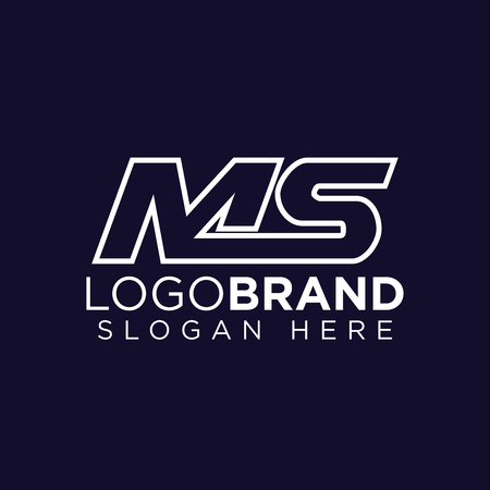 MS Initial letter connect logo vector Illustration