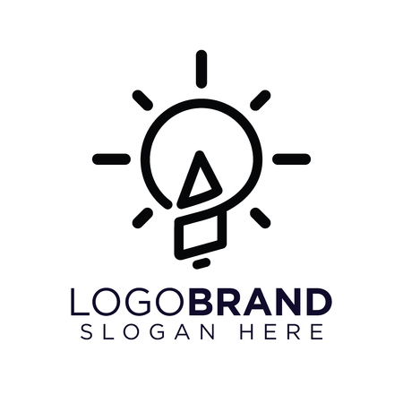AO Initial Letter with creative bulb Logo vector