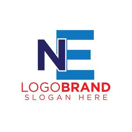 nE Initial letter logo template