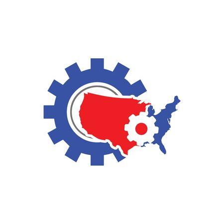 American Industry Logo template Ilustração