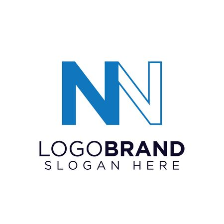 NN Initial letter logo template Ilustração