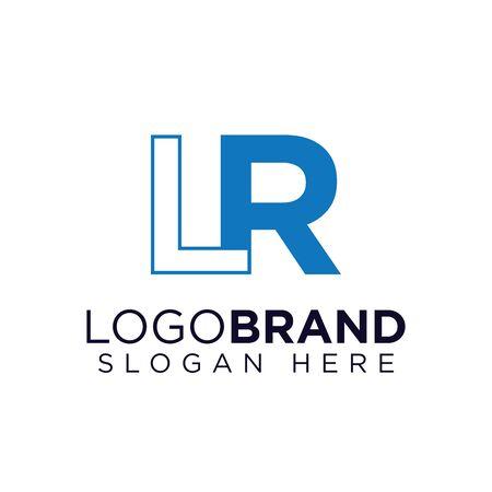 LR initial letter logo template