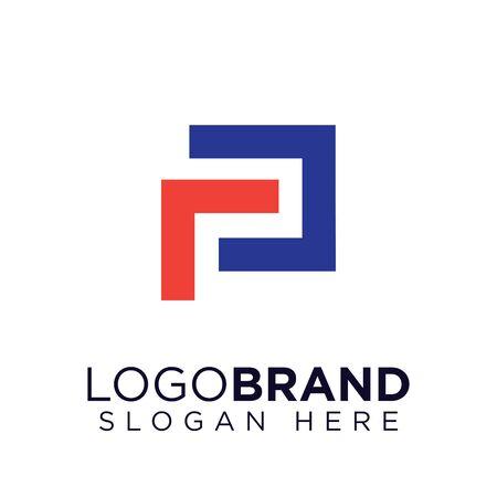 rp initial letter logo