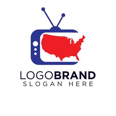 American Television Logo template Ilustração